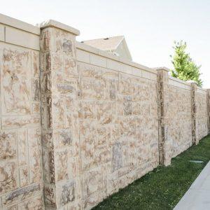castlestone concrete fence