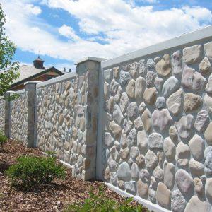 cobblestone concrete fence 2