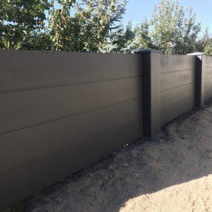 concrete fence shiplap