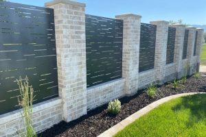 custom concrete fence