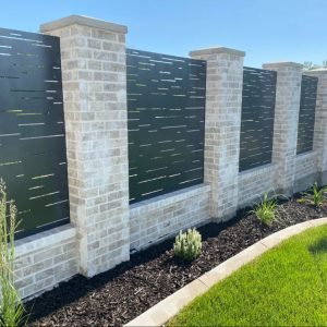 custom concrete fence