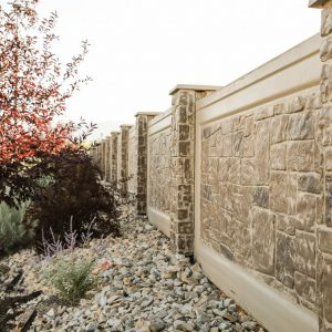 dry stack concrete fence