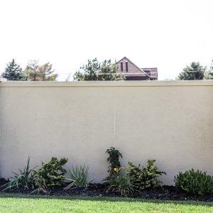 stucco concrete fence